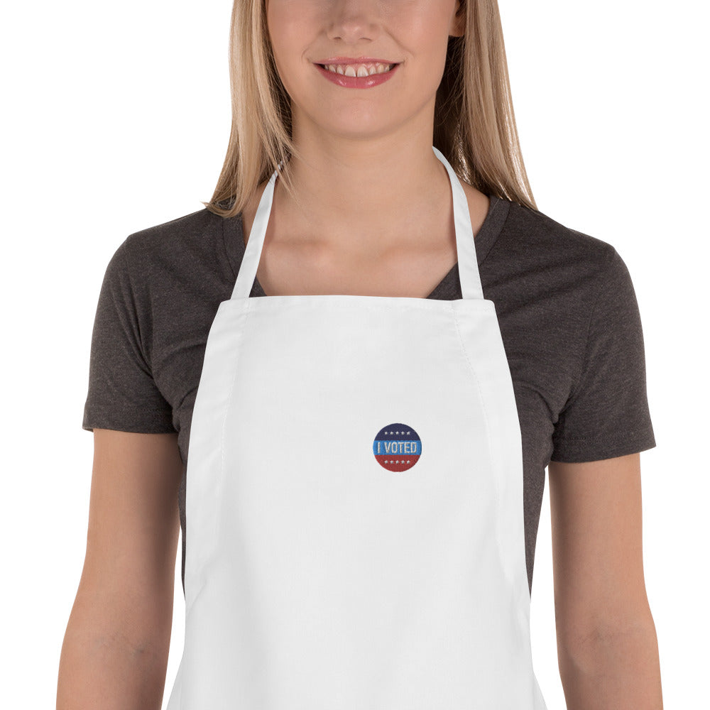 Embroidered I Voted Sticker Apron