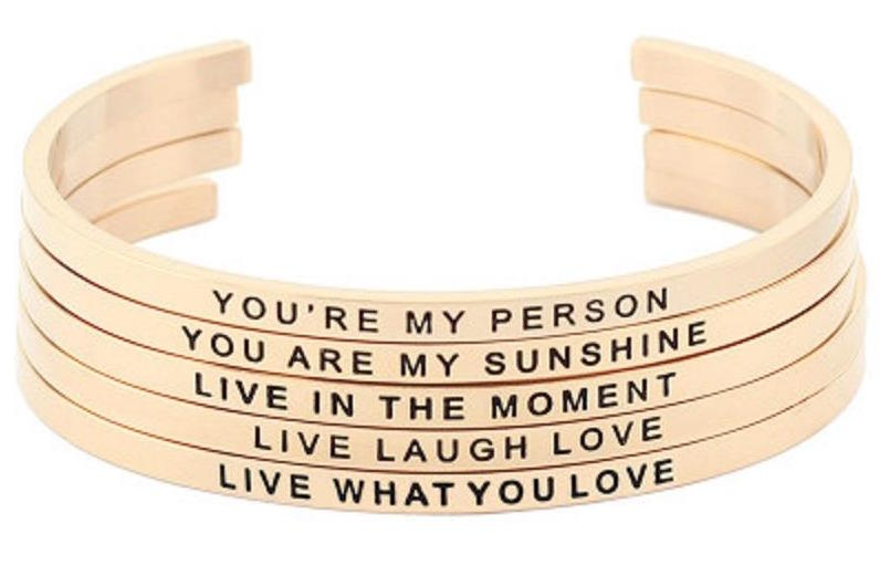 Motivational and Inspirational wrist cuffs for men and women