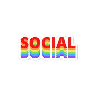 Social Rainbow Sticker