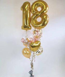 Luxury Number Balloons Bouquet