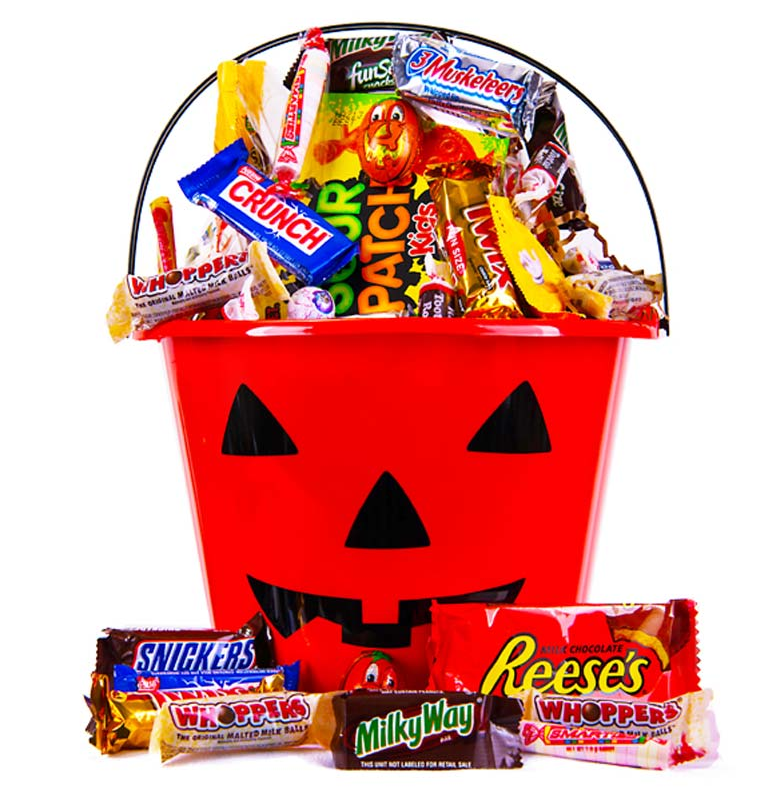 Halloween Pumkin Candy Bucket