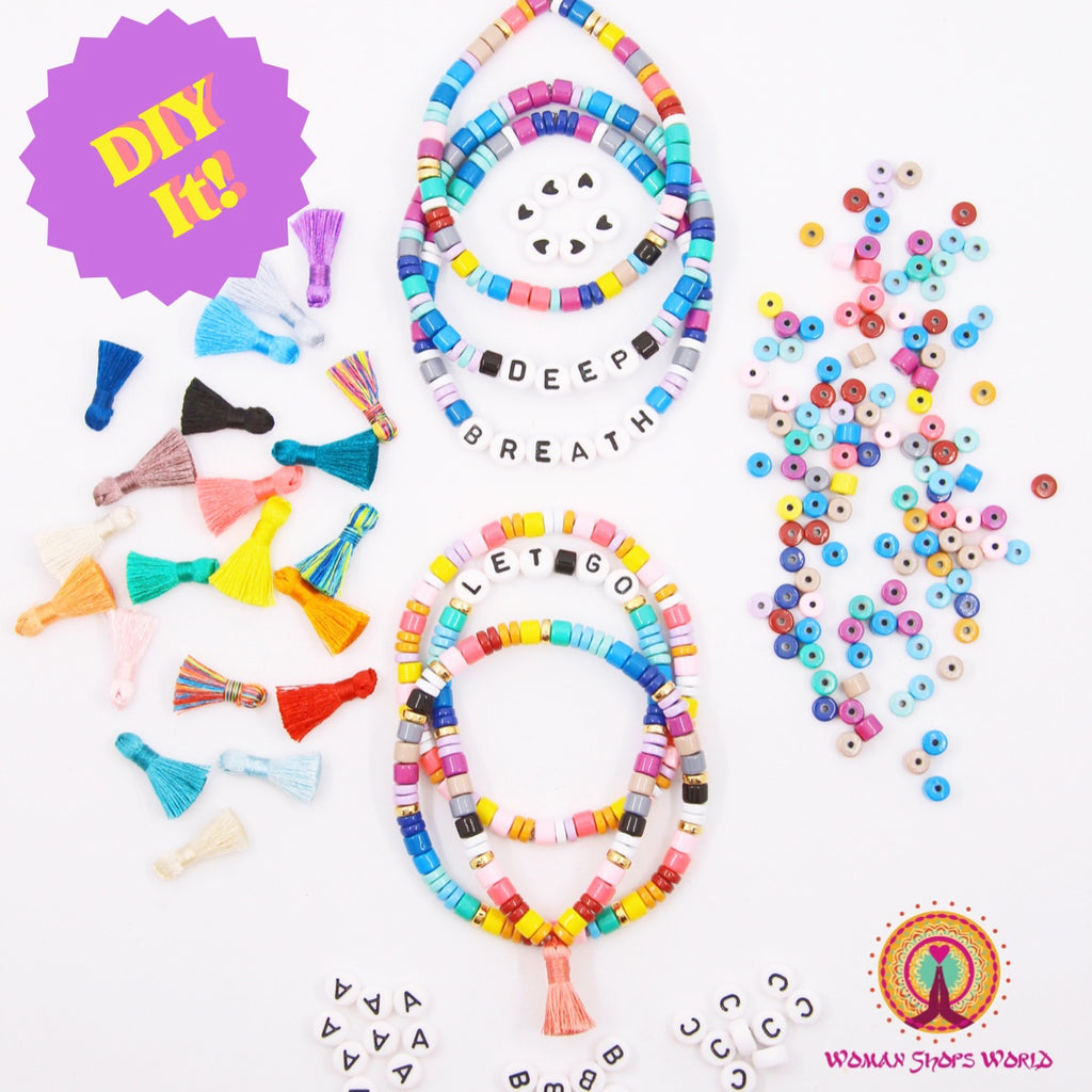 How to DIY Candy Heishi Disc Beaded Bracelets