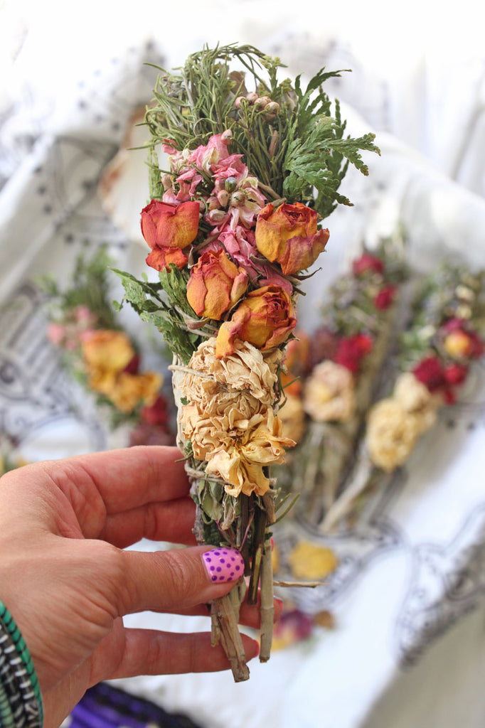 Powers of Flowers: Exploring the Magical Benefits of Floral Herb Smudge Sticks