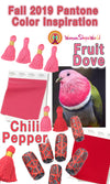 Fall 2019 Pantone Color Inspiration: Fruit Dove & Chili Pepper