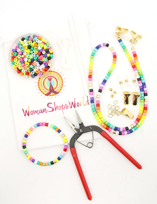 How to Make a Beaded Mask Necklace Chain or Sunglass Strap
