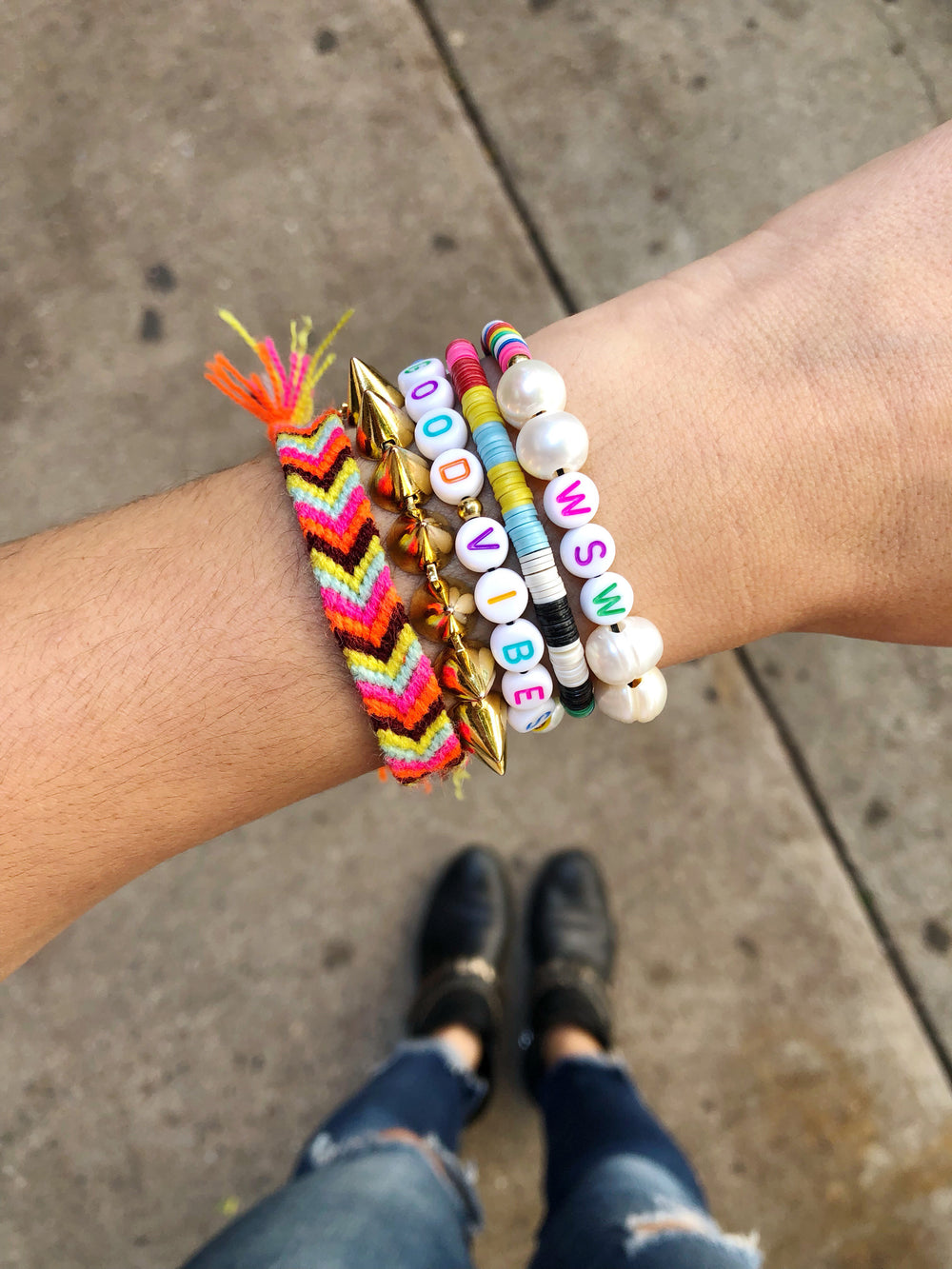 DIY Beaded Word Bracelet How-To from WSW x TNTP