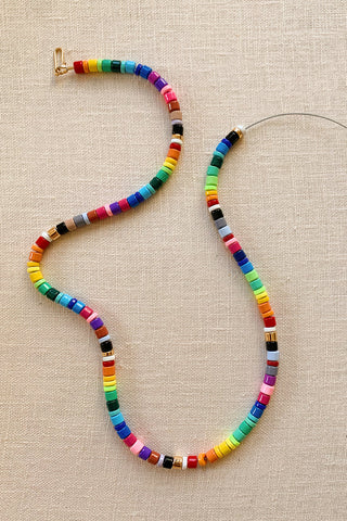 Rainbow Beaded Necklace Tutorial by HonestlyWTF, beads from WomanShopsWorld