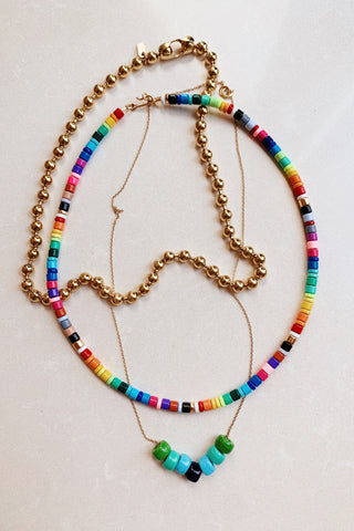 Rainbow Beaded necklaces