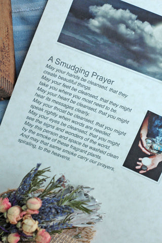A Smudging Prayer to use while burning sage.