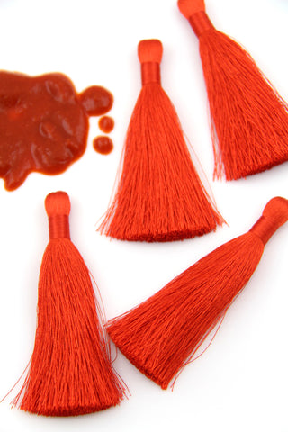 Red Silky Tassels from WomanShopsWorld
