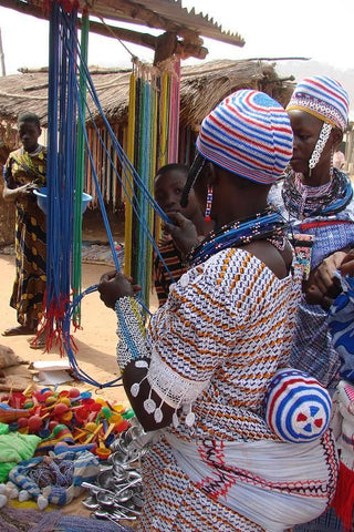 Photo of Bead Market in West Africa, north of Benin, Found on Beadcollector.net