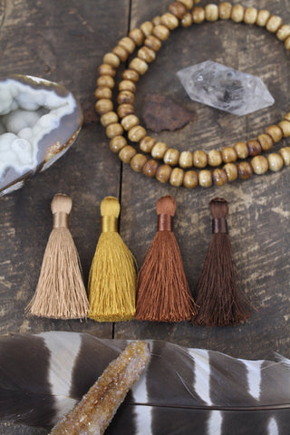 "Brown 2"" Silky Tassels"