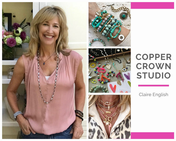 Copper Crown Studio's Claire English, Interview for International Women's Day, by WomanShopsWorld