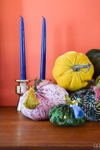 Fabric Pumpkin DIY by PMQforTwo