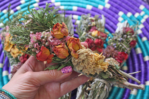 Floral Sage Wands for Ritual, Cleansing, and Healing, from WomanShopsWorld
