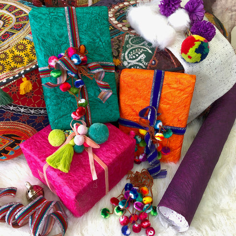 Gift Toppers with Poms, Tassels, and Swag from WomanShopsWorld