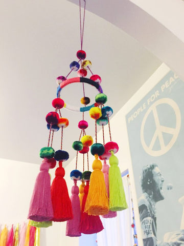 Pajaki-style chandelier, made by Marisa over at The Neon Tea Party!