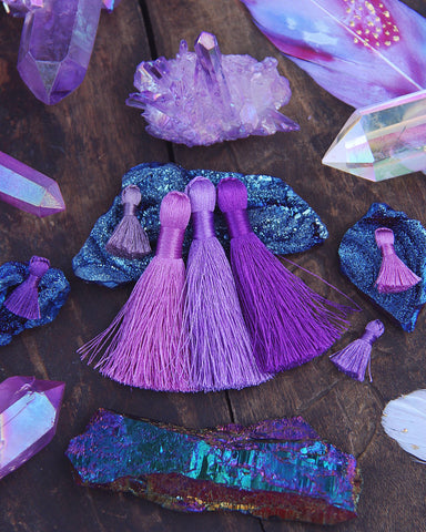 "Ultraviolet Purple 2"" Silky Tassel Pack"