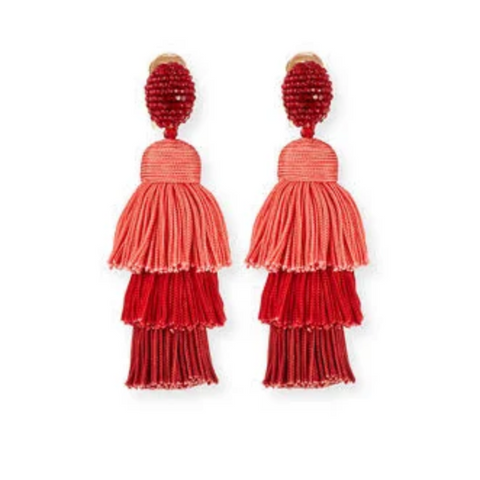 Oscar De la Renta Silk Tassel Earrings