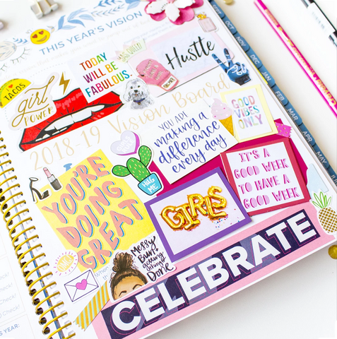 Vision Boarding with Bloom Daily Planners