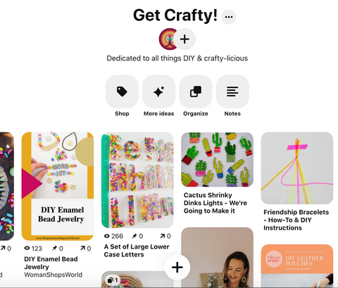 Get Crafty Pinterest Board from WomanShopsWorld