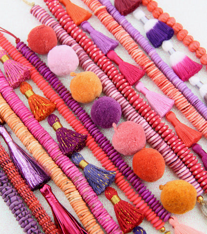 ic:Tassels and Pom Poms for Jewelry Making