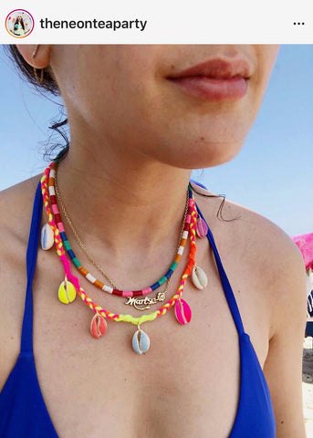 Layered Camp Style jewelry by The Neon Tea Party