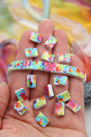 Tie Dyed Beads for DIY Jewelry, from WomanShopsWorld
