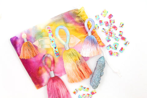 Tie Dyed Tassels from WomanShopsWorld