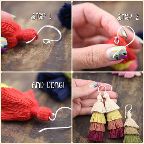 Tiered Tassel Earrings DIY