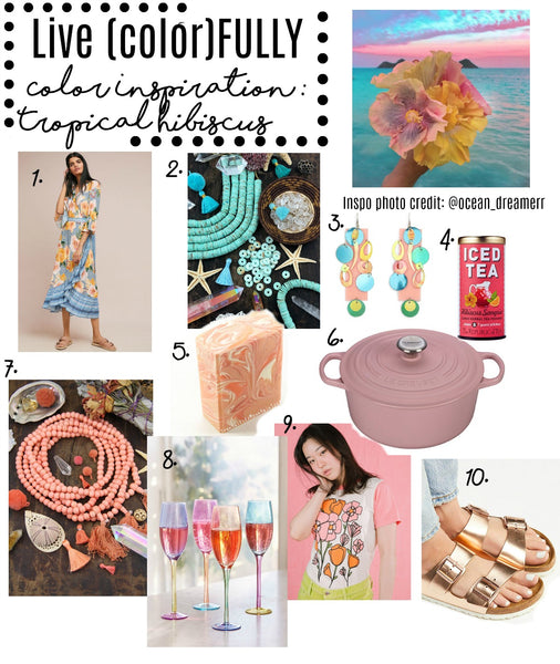 Color Inspiration: Tropical Hibiscus, from WomanShopsWorld
