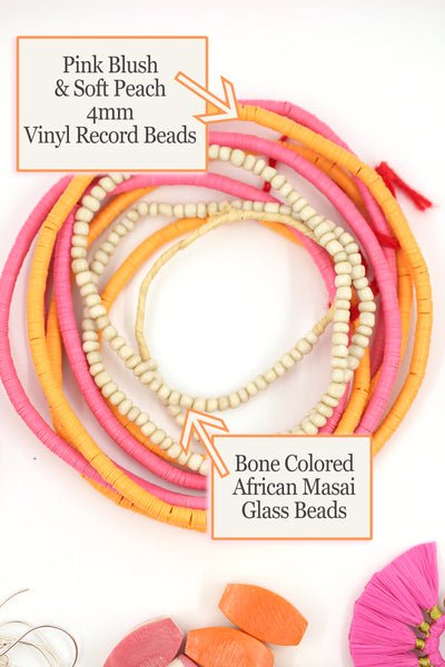 Vinyl Record Beads and African Beads for Jewelry Making
