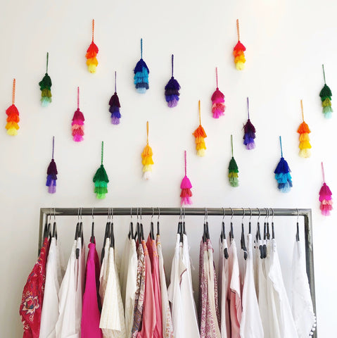 Tassel decorations providing inspiration at Matta in NYC