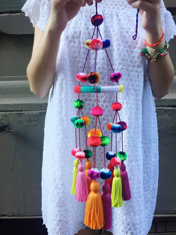Woman Shops World x TNTP Pom Pom Chandelier