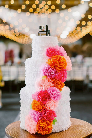 Wedding cake piñata by The Neon Tea Party