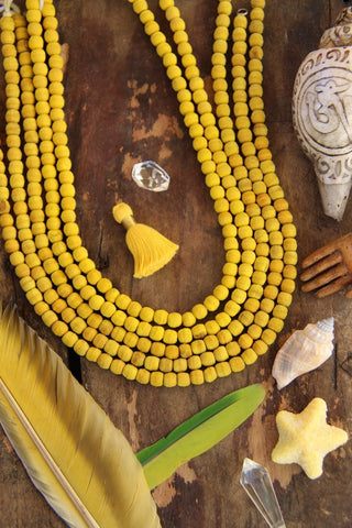 Yellow Olive Wood Beads
