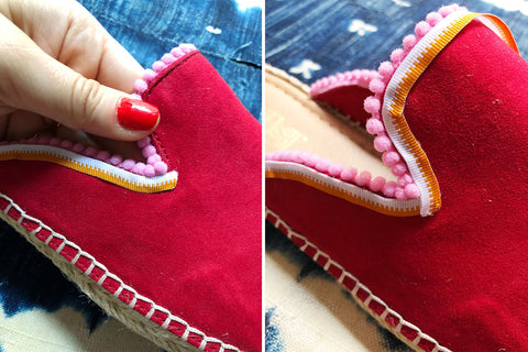 DIY Pom Pom Slides by The Neon Tea Party for WomanShopsWorld