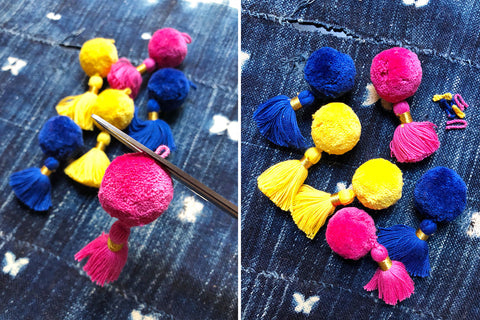 Pom Tassels for DIY Craft and Jewelry Making from WomanShopsWorld