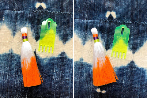 How to tame a messy tassel