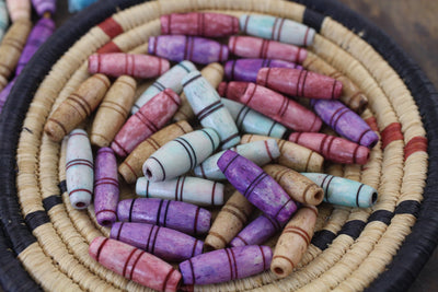 Barrel Shaped Bone Beads