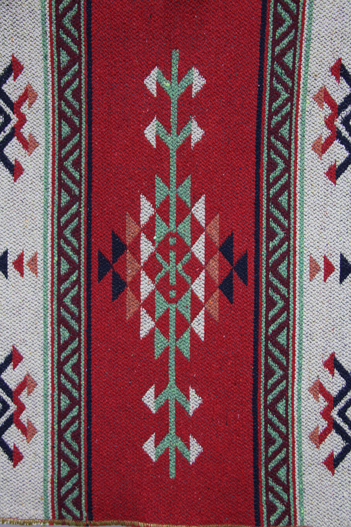 small turkish area rug hand woven kilim red and blue 2 x 3. Black Bedroom Furniture Sets. Home Design Ideas