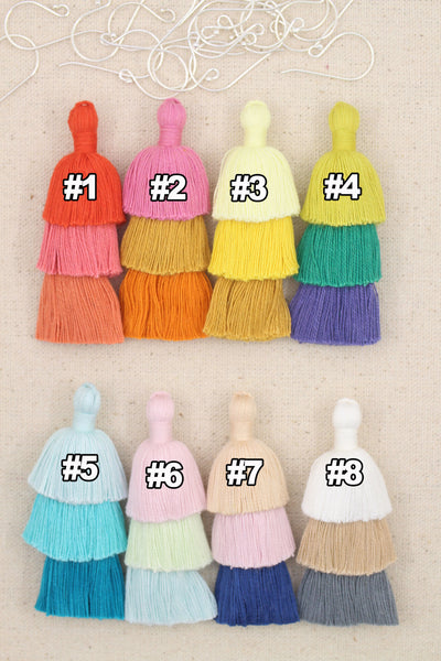 Tiered Tassels: You Choose from 8 Colors