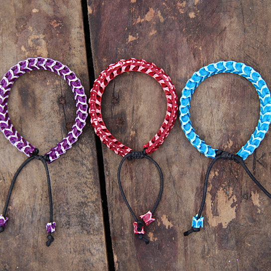 Colorful Snake Vertebrae Bracelets: Unisex Beaded Jewelry from Bali