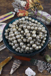 Pearly Om: 10 Silver Grey Loose Engraved Pearl Beads 11x13mm - ShopWomanShopsWorld.com. Bone Beads, Tassels, Pom Poms, African Beads.