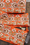 "Monarch Garden: Orange and Gold Sari Border from India, Ribbon, Fabric Sewing Supplies, 4""x1 Yard"