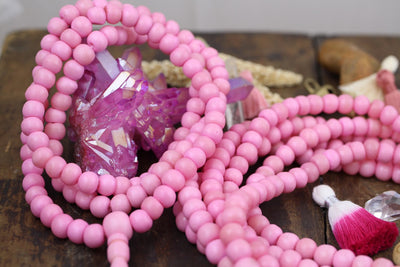 Pink beads from ShopWomanShopsWorld