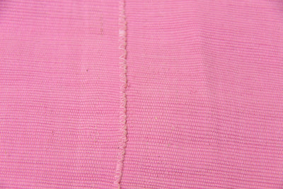 Vintage Aso Oke Tribal Textile, Solid Pink Strip Cloth Wall Hanging