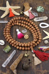 10 mm Sandalwood Beads : 108 beads, Natural Authentic Sandalwood Mala