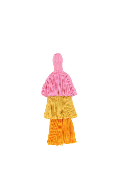 Cotton Tiered Tassels for Earrings