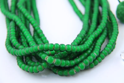 8mm Green Glass Beads